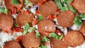 Gefrorene deluxe Pizza Stockbild