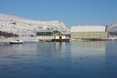 Gefrorene Docks Lizenzfreies Stockfoto