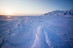 Gefrorene Eis-Landschaft Stockbild