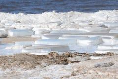 Gefrorene, eisige Ostseeküste 3 stockfotos