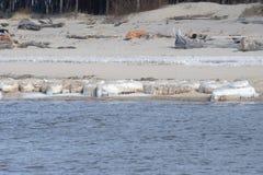 Gefrorene, eisige Ostseeküste 6 lizenzfreie stockbilder