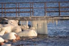 Gefrorene, eisige Ostseeküste 27 lizenzfreies stockfoto