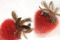 Gefrorene Erdbeere Stockbilder