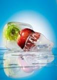 Gefrorene Früchte stockbilder
