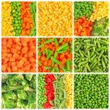Gefrorene Gemüsehintergründe Lizenzfreie Stockfotos