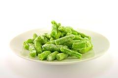Gefrorene grüne Bohnen Stockbilder