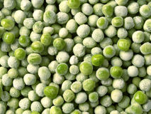 Gefrorene grüne Erbsen Stockfoto