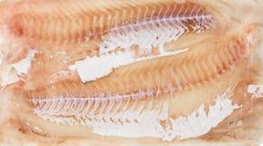 Gefrorene Karkassenfische im Ziegelstein für Handel und Hintergrund Lizenzfreie Stockbilder