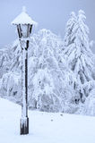 Gefrorene Lampe im Winter in den Hügeln Lizenzfreies Stockfoto