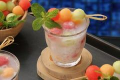 Gefrorene Melonen-Sago-Perlen Lizenzfreies Stockbild