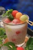 Gefrorene Melonen-Sago-Perlen Lizenzfreies Stockfoto