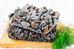 Gefrorene Pilze Stockbild