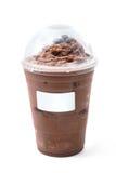 Gefrorene Schokolade mit Kaffeebohne in der Mitnehmerschale Stockbild