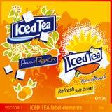 Gefrorene Teekennsatzelemente Lizenzfreies Stockbild
