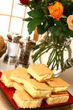 Gefrorene Vanille-Pudding-Stäbe Lizenzfreies Stockfoto