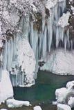 Gefrorene Wasserfälle Lizenzfreie Stockbilder