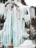Gefrorene Wasserfälle Chegem-Wasserfälle Russland Lizenzfreie Stockfotos