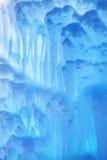 Gefrorene Wasserfallbeschaffenheit Stockfoto