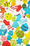 Gefrorene Weihnachtsplätzchen lizenzfreies stockbild