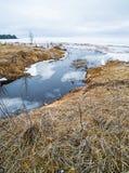 Gefrorene Winterszenen auf Great Lakes lizenzfreie stockbilder