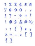 Gefrorene Zahlen und Symbole lizenzfreie abbildung