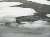 Gefrorener Fluss lizenzfreie stockbilder