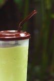 Gefrorener grüner Tee oder grüner Tee Smoothie Lizenzfreie Stockfotografie