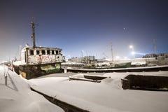 Gefrorener Hafen Stockbild