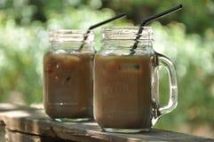 Gefrorener Kaffee Stockfoto
