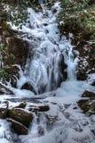 Gefrorener Mäusenebenfluß fällt in den Nationalpark Great Smoky Mountains Lizenzfreie Stockfotos