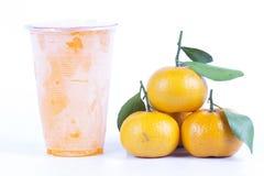Gefrorener Orangensaft Stockbild