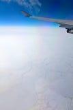 Gefrorener Ozean, Luftaufnahme Lizenzfreies Stockfoto