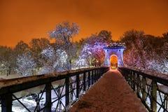 Gefrorener Park Lizenzfreie Stockfotografie