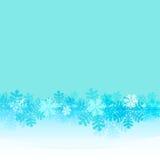 Gefrorener Rahmen mit blauem Schneeflockengurtvektor stock abbildung
