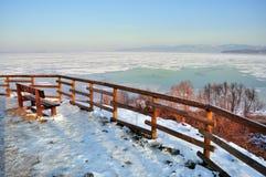 Gefrorener See, Italien Lizenzfreies Stockbild