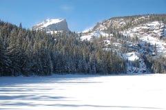 Gefrorener See in Rocky Mountain National Park Lizenzfreie Stockfotos
