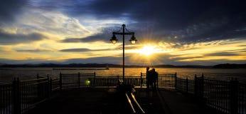 Gefrorener Sonnenuntergang stockbilder