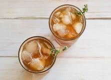 Gefrorener Tee stockfotografie