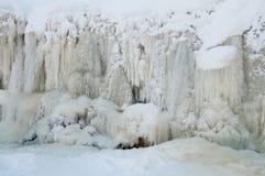 Gefrorener Wasserfall Lizenzfreie Stockfotos