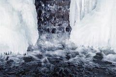Gefrorener Wasserfall Stockbilder