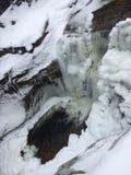Gefrorener Wasserfall Lizenzfreie Stockbilder