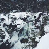 Gefrorener Wasserfall Stockfoto