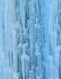 Gefrorener Wasserfall Stockbild