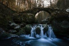 Gefrorener Wasserfall Lizenzfreies Stockfoto