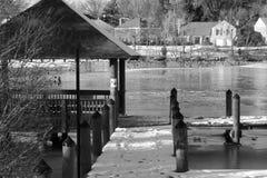 Gefrorenes Dock Lizenzfreies Stockfoto