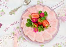 Gefrorenes Erdbeergelee Stockbild