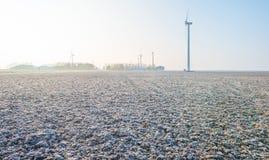 Gefrorenes Feld im Winter Lizenzfreie Stockbilder