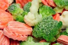 Gefrorenes Gemüse stockfotografie