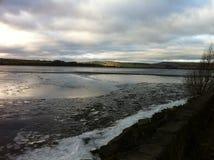 Gefrorenes Reservoir Lizenzfreies Stockbild