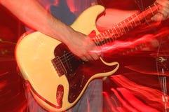 Gefrorenes Summenunschärfe der Stratocaster Gitarre Blinken Lizenzfreies Stockbild